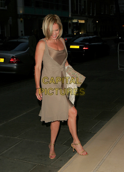MARIELLA FROSTRUP.Attends Suka, An evening at Sanderson in aid of CLIC Sargent, The Sanderson, Berners Street,.London, England, May 15th 2007..full length beige layered silk satin bronze dress looking down.CAP/AH.©Adam Houghton/Capital Pictures.