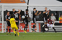 Columbus Crew forward Guillermo Barros Schelotto (7) during a free kick .  The Columbus Crew defeated DC united 1-0, at RFK Stadium, Saturday September 4, 2010.