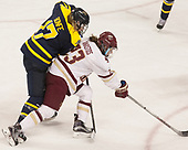 Jessica Bonfe (Merrimack - 17), Andie Anastos (BC - 23) - The number one seeded Boston College Eagles defeated the eight seeded Merrimack College Warriors 1-0 to sweep their Hockey East quarterfinal series on Friday, February 24, 2017, at Kelley Rink in Conte Forum in Chestnut Hill, Massachusetts.The number one seeded Boston College Eagles defeated the eight seeded Merrimack College Warriors 1-0 to sweep their Hockey East quarterfinal series on Friday, February 24, 2017, at Kelley Rink in Conte Forum in Chestnut Hill, Massachusetts.