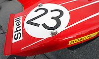 Detail of Porsche on display at the Rennsport Reunion, Daytona INternational Speedway, Daytona Beach, FL, November 2007.  (Photo by Brian Cleary/www.bcpix.com)