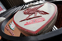 A general view of The Kop end at Anfield, home of Liverpool<br /> <br /> Photographer Rich Linley/CameraSport<br /> <br /> UEFA Champions League Semi-Final 2nd Leg - Liverpool v Barcelona - Tuesday May 7th 2019 - Anfield - Liverpool<br />  <br /> World Copyright © 2018 CameraSport. All rights reserved. 43 Linden Ave. Countesthorpe. Leicester. England. LE8 5PG - Tel: +44 (0) 116 277 4147 - admin@camerasport.com - www.camerasport.com