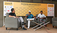 Anirban Lahiri (IND) and Siddikur Rahman (BANG) reflect on their success at the inaugural Eurasia Cup during the preview media interviews ahead of the 2014 Maybank Malaysian Open at the Kuala Lumpur Golf & Country Club, Kuala Lumpur, Malaysia. Picture:  David Lloyd / www.golffile.ie