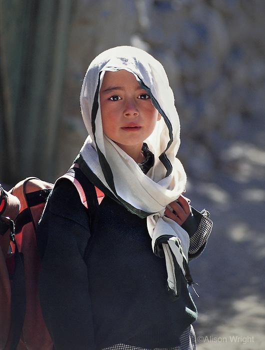 Schoolgirl, Gulmit, Pakistan, 1994