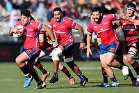Levi Aumua of Tasman Mako  during the Mitre 10 Cup rugby match between Canterbury and Tasman Makos at Orangetheory Stadium in Christchurch, New Zealand on Friday, 5 July 2019. Photo: Martin Hunter / lintottphoto.co.nz