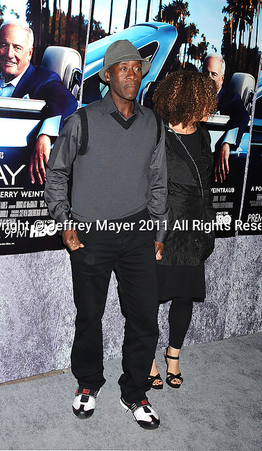 """HOLLYWOOD, CA - MARCH 22: Don Cheadle attends HBO's """"His Way"""" Los Angeles Premiere at Paramount Theater on the Paramount Studios lot on March 22, 2011 in Hollywood, California."""