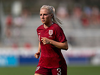 FRISCO, TX - MARCH 11: Alex Greenwood #3 of England sprints during a game between England and Spain at Toyota Stadium on March 11, 2020 in Frisco, Texas.
