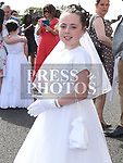 Caoimhe Martin from St Brigids school who received her Fiirst Holy Communion in Our Lady of Lourdes church. Photo:Colin Bell/pressphotos.ie
