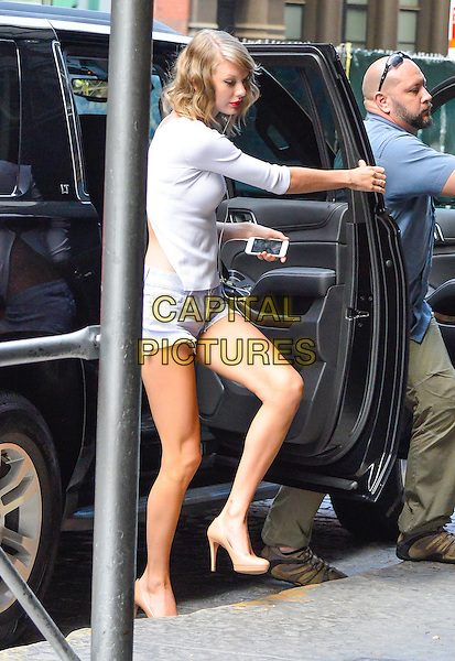 NEW YORK, NY - JULY 14:  Taylor Swift seen in New York, New York on July 14, 2014.  <br /> CAP/MPI/MPI67<br /> &copy;mpi63/MediaPunch/Capital Pictures