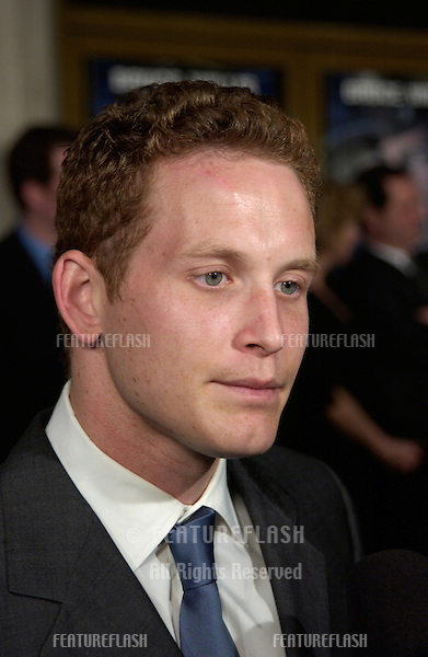 Actor COLE HAUSER at the world premiere, in Los Angeles, of his new movie Hart's War..12FEB2002. © Paul Smith/Featureflash