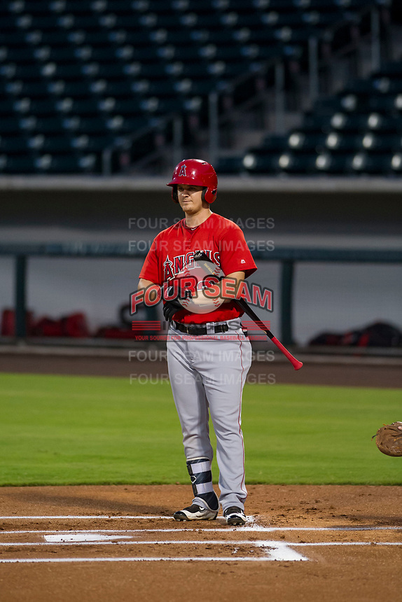 AZL Angels designated hitter Brendon Sanger (20) at bat against the AZL Cubs on August 31, 2017 at Sloan Park in Mesa, Arizona. AZL Cubs defeated the AZL Angels 9-2. (Zachary Lucy/Four Seam Images)