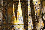 Tiles in the garden of the Sorolla Museum in Madrid, Spain.