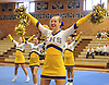 Brittany Dein and the Comsewogue varsity cheerleaders perform during a competition held at Hauppauge High School on Saturday, Jan. 21, 2017.