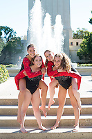 STANFORD, CA - Seniors of Stanford University Women's Gymnastics.