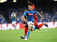 5th November 2019; Stadio San Paolo, Naples, Campania, Italy; UEFA Champions League Group Stage Football, Napoli versus Red Bull Salzburg; Hirving Lozano of Napoli holds off  Jerome Onguene of Salzburg  - Editorial Use