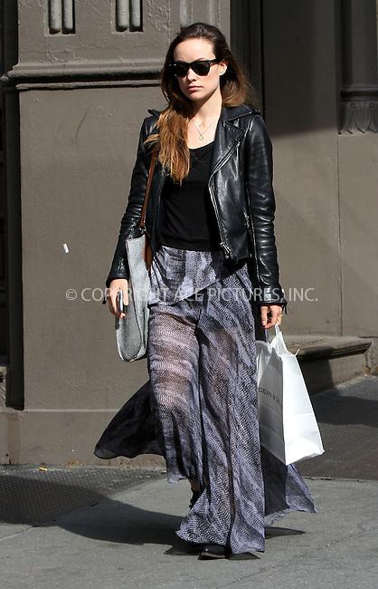 WWW.ACEPIXS.COM<br /> <br /> April 30 2015, New York City<br /> <br /> Actress Olivia Wilde walks in Soho on April 30 2015 in New York City<br /> <br /> Please byline: Nancy Rivera/ACE Pictures<br /> <br /> ACE Pictures, Inc.<br /> www.acepixs.com, Email: info@acepixs.com<br /> Tel: 646 769 0430