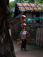 Small home Pottery in Sagaing near Mandalay, Myanmar