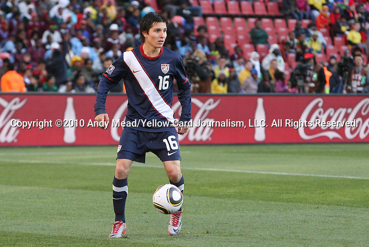18 JUN 2010: Jose Torres (USA). The Slovenia National Team played the United States National Team to a 2-2 at Ellis Park Stadium in Johannesburg, South Africa in a 2010 FIFA World Cup Group C match.
