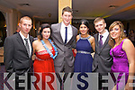 Enjoying the Colaiste na Sceilge Debs Ball at the Waterville Lake Hotel on Saturday were l-r; D.J.Clifford, Heather O'Sullivan, Brian Coffey, Aoife Sheehan Josh Kidd & Sarah Curran.
