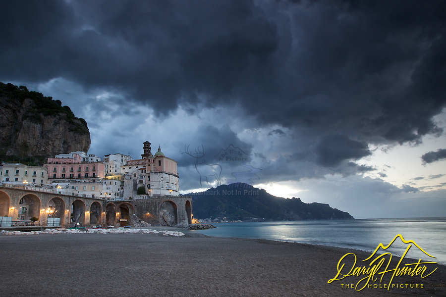 Stormy Sky, Atrani Italy. Atrani is a beautiful and ancient village on the beautiful Amalfi Coast of Italy