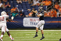 SAN ANTONIO, TX - SEPTEMBER 28, 2013: The University of Houston Cougars versus the University of Texas at San Antonio Roadrunners Football at the Alamodome. (Photo by Jeff Huehn)