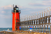 64795-02612 South Haven Lighthouse early morning South Haven,  MI
