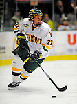 3 January 2009: University of Vermont Catamount defenseman Josh Burrows, a Sophomore from Prairie Grove, IL, in action against the St. Lawrence Saints during the championship game of the Catamount Cup Ice Hockey Tournament at Gutterson Fieldhouse in Burlington, Vermont. The Cats defeated the Saints 4-0 and won the tournament for the second time since its inception in 2005...Mandatory Photo Credit: Ed Wolfstein Photo