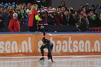 SCHAATSEN: AMSTERDAM: Olympisch Stadion, 28-02-2014, KPN NK Sprint/Allround, Coolste Baan van Nederland, Stefan Groothuis, ©foto Martin de Jong