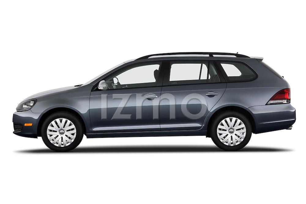 Driver side profile view of a 2010 Volkswagen Jetta SportWagen S.