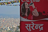 view from the Pasuati Nath Buddhist Monkey Temple, Kathmandu, Nepal
