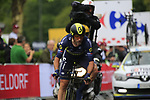 Michael Albasini (SUI) Orica-Scott in action during Stage 1, a 14km individual time trial around Dusseldorf, of the 104th edition of the Tour de France 2017, Dusseldorf, Germany. 1st July 2017.<br /> Picture: Eoin Clarke | Cyclefile<br /> <br /> <br /> All photos usage must carry mandatory copyright credit (&copy; Cyclefile | Eoin Clarke)
