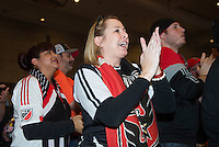 Baltimore, MD - January 14, 2015: The Chicago Fire select Jack Harrison with the first pick during the MLS SuperDraft at the Baltimore Convention Center.