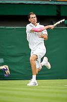 28-06-13, England, London,  AELTC, Wimbledon, Tennis, Wimbledon 2013, Day five, Jerzy Janowicz (POL)<br /> <br /> <br /> <br /> Photo: Henk Koster