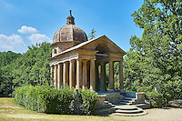 Temple built to the memory of Giulia Farnese by her husband Pier Francesco Orsini, Duke of Babarzo c. 1513-84, The Renaissance Mannerist style Park of Monsters or The Sacred Wood of Bamarzo, Italy