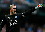 Kasper Schmeichel of Leicester City during the English Premier League match at the Etihad Stadium, Manchester. Picture date: May 13th 2017. Pic credit should read: Simon Bellis/Sportimage