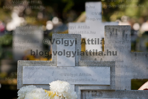Day of the dead memorial in a cemetary in Budapest, Hungary on November 01, 2007. ATTILA VOLGYI