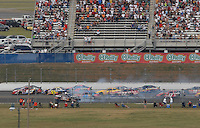 Apr 28, 2007; Talladega, AL, USA; Nascar Busch Series driver Steve Wallace (66) spins during the Aarons 312 at Talladega Superspeedway. Mandatory Credit: Mark J. Rebilas