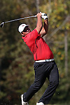 31 October 2016: Liberty University's Gabe Lench. The Third Round of the 2016 Bridgestone Golf Collegiate NCAA Men's Golf Tournament hosted by the University of North Carolina Greensboro Spartans was held on the West Course at the Grandover Resort in Greensboro, North Carolina.
