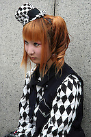 """Costume Play Checkerboard - A wide variety of """"costume play"""" creations are to be seen every Sunday in Harajuku, Tokyo's fashion quarter.  It makes you wonder, however,  what they wear to work on Monday mornings..."""