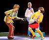 Scooby-Doo! Live Musical Mysteries <br /> at The Palladium, London, Great Britain <br /> press photocall <br /> 17th August 2016 <br /> <br /> <br /> Charlie Haskins as Shaggy <br /> Chris Warner Drake as Fred <br /> Charlie Bull as Daphne <br /> <br /> <br /> <br /> <br /> <br /> Photograph by Elliott Franks <br /> Image licensed to Elliott Franks Photography Services