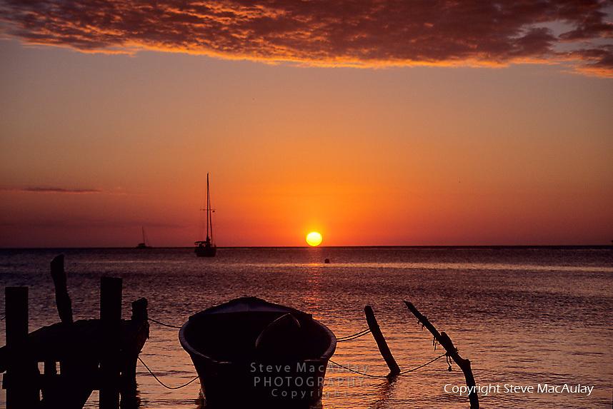 Sunset from Roatan, Honduras