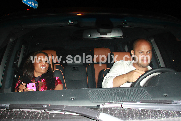 **ALL ROUND PICTURES FROM SOLARPIX.COM**.**WORLDWIDE SYNDICATION RIGHTS**.**NO PUBLICATION IN AUSTRALIA, DENMARK, GERMANY, NEW ZEALAND, RUSSIA, UK OR USA**.Mel B and her husband enjoy a late night dinner at STK Restaurant in West Hollywood, California. 26th August 2008..This pic: Mel B and Stephen Belafonte..JOB REF: 7131 LAP (JSG)      DATE: 26_08_2008.**MUST CREDIT SOLARPIX.COM OR DOUBLE FEE WILL BE CHARGED* *UNDER NO CIRCUMSTANCES IS THIS IMAGE TO BE REPRODUCED FOR ANY ONLINE EDITION WITHOUT PRIOR PERMISSION*
