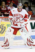 Grant Rollheiser (BU - 35) - The Boston University Terriers defeated the Merrimack College Warriors 6-4 on Saturday, November 14, 2009, at Agganis Arena in Boston, Massachusetts.