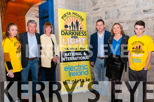 "Darkness Into Light: Pictured to announce  the ""Darkness into Light""  5k Walk/Run in aid of Pieta House at St. John's Arts Centre, Listowel on Monday night last were Ciara O'Brien, Billy Keane, Joan Freeman, founder Pieta House, Martin , Cora  & Robert O'Brien. The event will be held in Listowel race course on the 9th May at 4.00am."