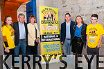 """Darkness Into Light: Pictured to announce  the """"Darkness into Light""""  5k Walk/Run in aid of Pieta House at St. John's Arts Centre, Listowel on Monday night last were Ciara O'Brien, Billy Keane, Joan Freeman, founder Pieta House, Martin , Cora  & Robert O'Brien. The event will be held in Listowel race course on the 9th May at 4.00am."""