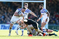 Elliott Stooke of Bath Rugby takes on the Exeter Chiefs defence. Gallagher Premiership match, between Exeter Chiefs and Bath Rugby on March 24, 2019 at Sandy Park in Exeter, England. Photo by: Patrick Khachfe / Onside Images