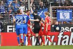 10.03.2018, Vonovia Ruhrstadion, Bochum, GER, 2.FBL., VfL Bochum vs. Holstein Kiel<br /> im Bild / picture shows: <br /> Aufregung im Bochumer Strafraum Schiedsrichter, referee, Florian Badst&uuml;bner (SR)<br /> <br /> <br /> <br /> Foto &copy; nordphoto / Meuter