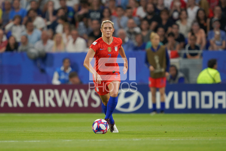 DECINES-CHARPIEU, FRANCE - JULY 02: Abby Dahlkemper #7 during a 2019 FIFA Women's World Cup France Semi-Final match between England and the United States at Groupama Stadium on July 02, 2019 in Decines-Charpieu, France.