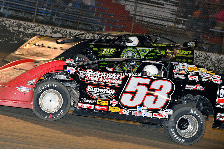 Feb 15, 2014; 9:38:46 PM; Gibsonton, FL., USA; The Lucas Oil Dirt Late Model Racing Series running The 38th Aannual WinterNationals at East Bay Raceway Park.  Mandatory Credit: (thesportswire.net)