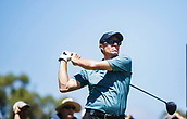 9th February 2018, Lake Karrinyup Country Club, Karrinyup, Australia; ISPS HANDA World Super 6 Perth golf, second round; Nick O'Hern (AUS)  plays a shot