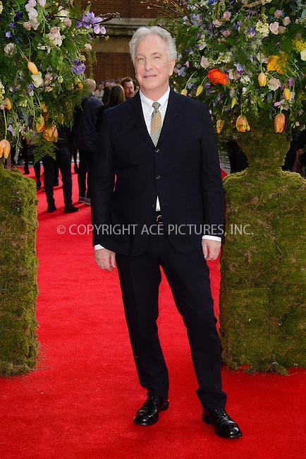 WWW.ACEPIXS.COM<br /> <br /> April 13 2015, London<br /> <br /> Alan Rickman arriving at the UK premiere of 'A Little Chaos' at the Odeon Kensington on April 13 2015 in London <br /> <br /> By Line: Famous/ACE Pictures<br /> <br /> <br /> ACE Pictures, Inc.<br /> tel: 646 769 0430<br /> Email: info@acepixs.com<br /> www.acepixs.com